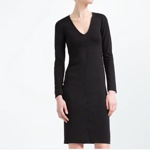 ZARA black long sleeve midi dress!